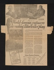 Palos Verdes Project General Publicity Scrapbook January 1924 - December 1925