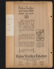 Palos Verdes Project Advertisement Scrapbook February 1923 - December 1924