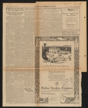 Palos Verdes Project Advertisement Scrapbook June 1926 - January 7, 1927