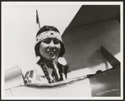 Woman in Native American dress