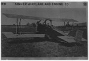Two men in a Kinner Airplane