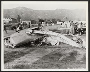 Wreckage from a plane crash