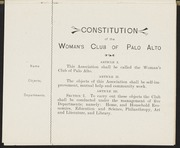 Constitution and Membership, 1899