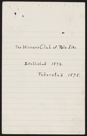 Constitution and Palo Alto Woman's Club List of Membership, 1898-1899