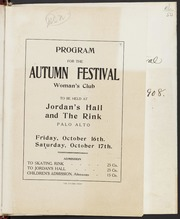 Program: Autumn Festival, October 16-17, 1908