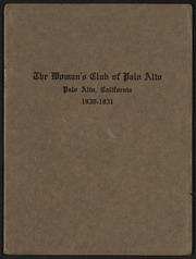 36th Annual Announcement of the Woman's Club of Palo Alto: 1930-1931