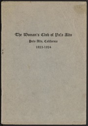 29th Annual Announcement of the Woman's Club of Palo Alto: 1923-1924
