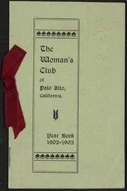 Palo Alto Woman's Club Yearbook: 1902-1903