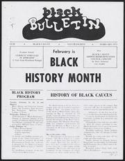 Black Bulletin Layouts, 1968- , Folder 1