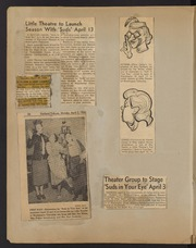 Theatre scrapbook, including various articles and photos related to Little Theatre of Washington Township