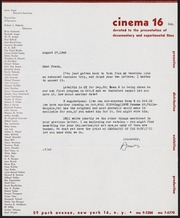 General correspondence,  Aug - Dec 1949: Art in Cinema collection