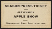 Gravenstein Apple Show season press ticket