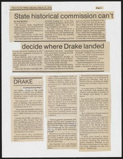 State Historical Commission can't decide where Drake landed