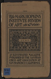 The Mark Hopkins Institute Review of Art - 1902-06 - Vol 1, No 5
