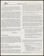 SF Art Association Newsletter - 1957-05-01
