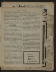 Lodge Echoes - 1901-01-05