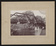 Niles Canyon, Bridge and Row Boat, circa 1896