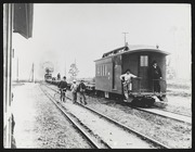 South Pacific Coast Combine/Caboose no. 47 at Agnew