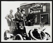 4 Unknown Men in a Car in front of Stanley's Agricultural Works