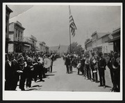 Mission San Jose in 1879 during the Holy Ghost Parade