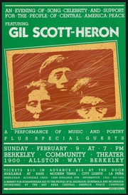 An Evening of Song Celebrity and Support for the People of Central America Peace Featuring Gil Scott Heron