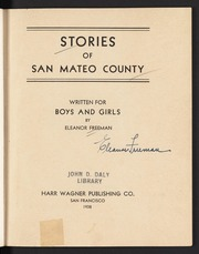 Stories of San Mateo County: Written for Boys and Girls